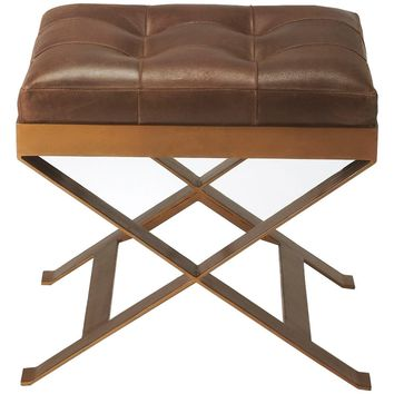 Rodrigo Leather Stool