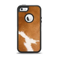 The Real Brown Cow Coat Texture Apple iPhone 5-5s Otterbox Defender Case Skin Set