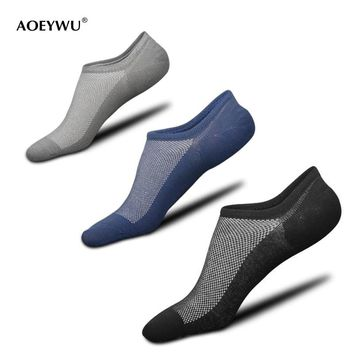 High quality men summer breathable mesh invisible non-slip boat socks cotton male fashion tide no show socks 5pairs/lot