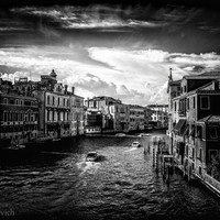 Venice Cityscape Landscape Art Photography Black and White Urban Photo Landmark Italy