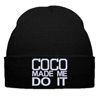 COCO MADE ME DO IT snapback COCO MADE ME DO IT 2 beanie knit hat cap caps