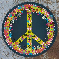 Car  Magnets:  Blue  Peace  Car  Magnet  From  Natural  Life