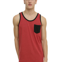 RUDE Red & Black Pocket Tank Top