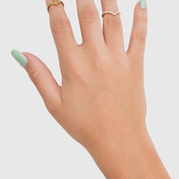 Peace Midi Ring Set