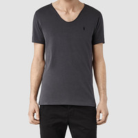 Mens Tonic Scoop T-Shirt (Washed ink) | ALLSAINTS.com