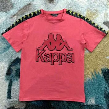 KAPPA VINTAGE Couples Standard Three-Dimensional Printed Cotton T-Shirt F-XMCP-YC Watermelon red