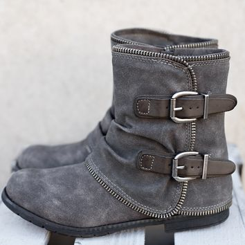 Those Glory Days Not Rated Booties (Grey)