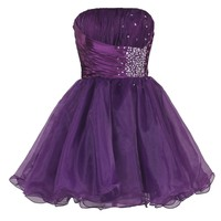 Faironly Purple Homecoming Mini Short Dresses