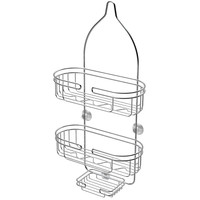 ATHome Chrome-Plated Steel Shower Caddy with Soap Dish | Overstock.com Shopping - The Best Deals on Shower Caddies