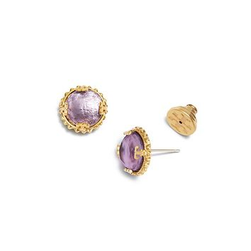 Tory Burch Coin Stone Stud Earring