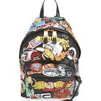 Moschino Multi Patch Leather Backpack | Nordstrom
