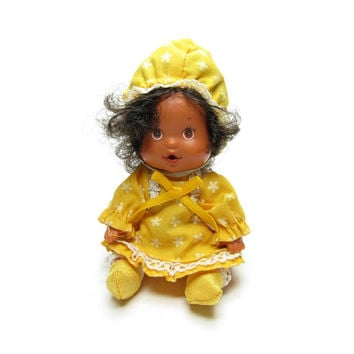 Orange Blossom Berry Baby Doll Vintage 1980's Strawberry Shortcake Drink & Wet Toy