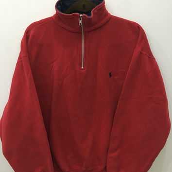 Vintage 90's Polo by Ralph Lauren Design Skate Sweat Shirt Sweater Varsity Jacket Size L #A5