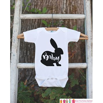 Kids Easter Outfit - Baby Bunny Onepiece or Tshirt - Kids Easter Bunny Outfit - Sibling Easter Outfits - Boy or Girl Newborn Infant Onepiece