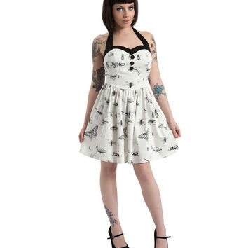 Jawbreaker Antique Insect Flare Dress