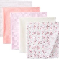 Rene Rofe Baby Baby-Girls Newborn Floral 5 Pack Receiving Blanket Set, Multi, 0-9 Months
