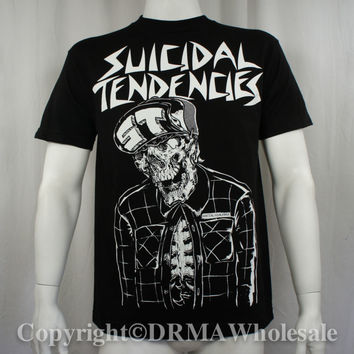 METAL MULISHA SUICIDAL TENDENCIES Band Collab Skeleton Skull T-Shirt M-XXL NEW