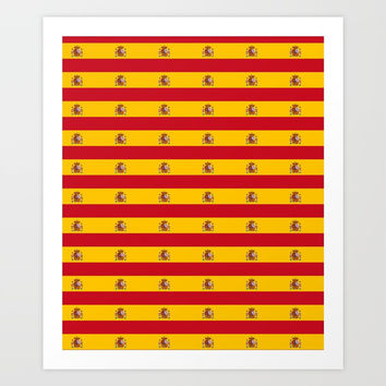 Flag of spain 2-spain,flag,flag of spain,espana, spanish,plus ultra,espanol,Castellano,Madrid,prado Art Print by oldking