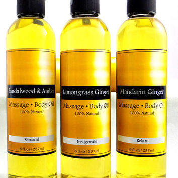 All Natural Organic Massage & Body Oil.