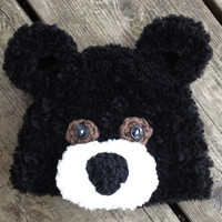 Crochet Pattern for Fuzzy Bear Hat - 5 sizes, baby to adult - Welcome to sell finished items