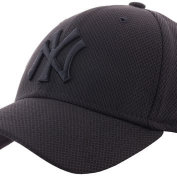 New Era NY Diamond Era 9Forty Hat Black Baseball Cap Mens Womens