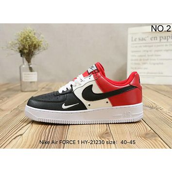 NIKE Air FORCE 1 trendy mixed-color casual high quality retro shoes F-A36H-MY NO.2