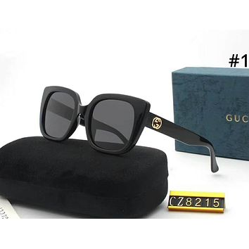 GUCCI Tide brand personality fashion wild women models interlock double G large frame polarized sunglasses #1