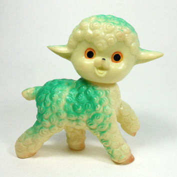 Vintage Toy LAMB Squeak Toy Children Mid-Century Retro Collectible Japan PeachyChicBoutique on Etsy