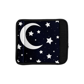 "KESS Original ""Moon & Stars"" Black White Luggage Handle"