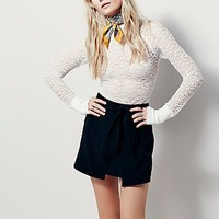 Free People Womens Wrapped Mini Skirt