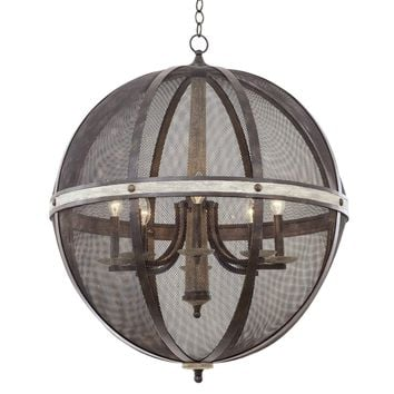 Coronado 8 Light Oval Chandelier