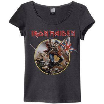 Iron Maiden  Trooper Junior Top Black