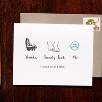 Things That Stinks Sorry Card