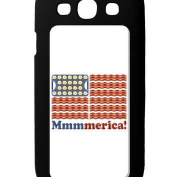American Breakfast Flag - Bacon and Eggs - Mmmmerica Galaxy S3 Case  by TooLoud