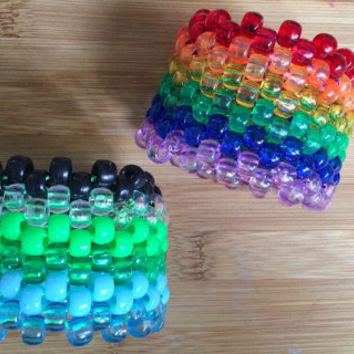Basic Striped Kandi Cuff in Assorted Colors