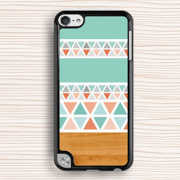 blue wood geometry ipod case,hot selling ipod 4 case,fashion ipod 5 case,idea ipod touch 4 case,gift ipod touch 5 case