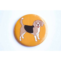 Beagle Dog Magnet, Pin, or Mirror