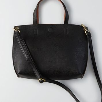 Street Level Reversible Mini Tote , Black | American Eagle Outfitters