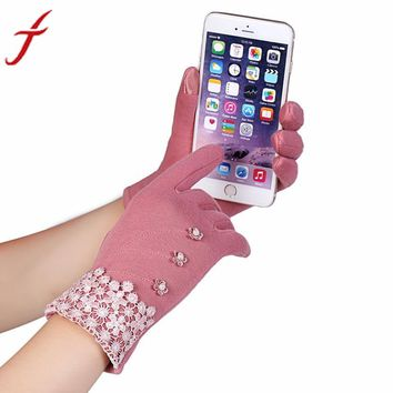 Gloves Lace and buttons touchscreen compatible