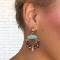 Topaz & Turquoise Crystal Earrings