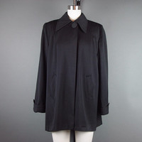 50s Black Cropped Jacket Vintage 1950s Swing Gabardine