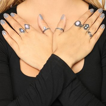 Try Again Ring Set - Silver