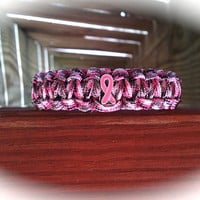 BREAST CANCER AWARENESS Pink Camo Survival Band