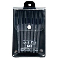 Copic - COPIC Multiliner Set - 4-Pen Fine Black Set - Walmart.com