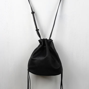 Small Double Drawstring Bucket Bag