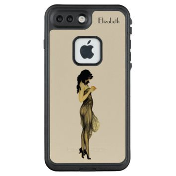 Beautiful Vintage Retro Girl With An Apple LifeProof FRĒ iPhone 7 Plus Case