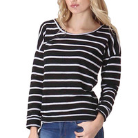 Striped Long Sleeve Pull Over Knit Sweater