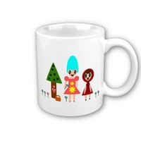 Little Red Riding Hood and Grandma Among the Flowe Coffee Mug from Zazzle.com