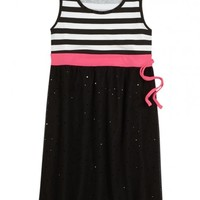 Striped Mesh Dress | Girls Dresses Clearance | Shop Justice