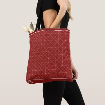 Red Point Graph Minor Monogram Tote Bag